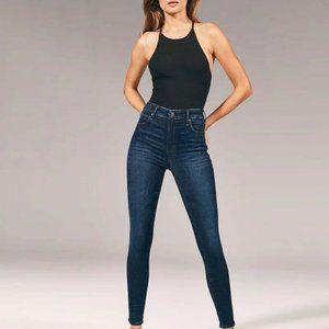 ABERCROMBIE & FITCH SUPER SKINNY Stretch Blue Jean